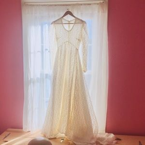 Dresses & Skirts - Vintage handmade lace wedding gown